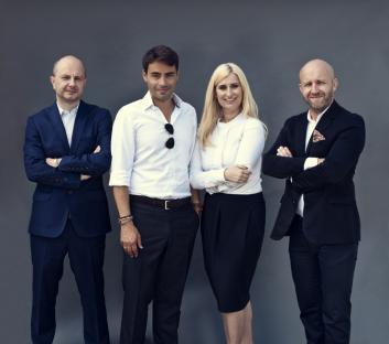 Od lewej: Maciej Hutyra, Marek Żołędziowski, Anna Pańczyk i Jacek Kołtonik, biznes intelligence w Value Media.