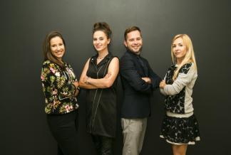 od lewej: Nadia Sotirow, Magda Kozicka, Łukasz Deoniziak oraz Marta Dunin-Michałowska