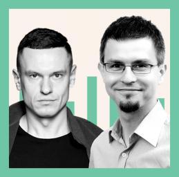 od lewej: Adrian Pietraszkiewicz i Łukasz Korol