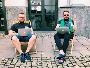 od lewej:  M.Gaca, M. Rudek