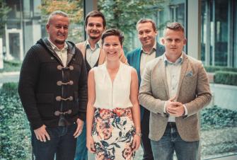 od lewej: Maciej Gajek, Maciej Deja, Joanna Kocik, Michał Siegieda, Piotr Mieśnik
