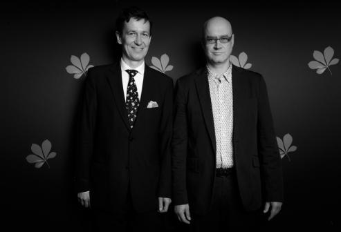 Stefan Laudyn, dyrektor WFF i Andrzej Jakimowski, reżyser filmu otwarcia festiwalu