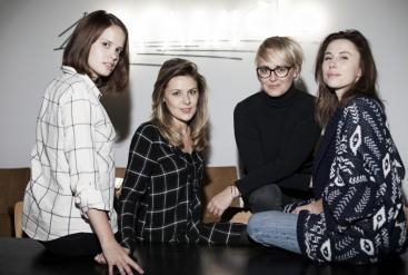 od lewej: Antonina Scipio del Campo, Milena Gronau, Karolina Kowalczyk, Ada Kornecka