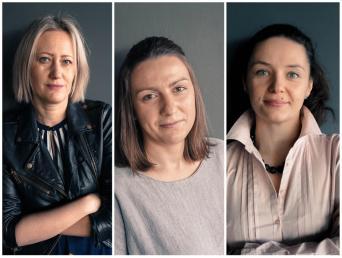 od lewej: Małgorzata Bęczkowska, Katarzyna Barczuk, Luiza Szymańczak