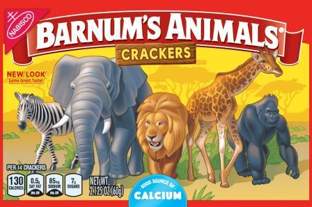 Nowy wygląd opakowania Barnum's Animals Crackers