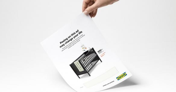 Nagrodzona w kategorii print reklama dla Ikei