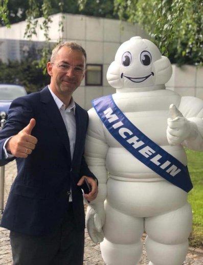 Daniel Pawełek i Michelin. Foto: materiały prasowe.