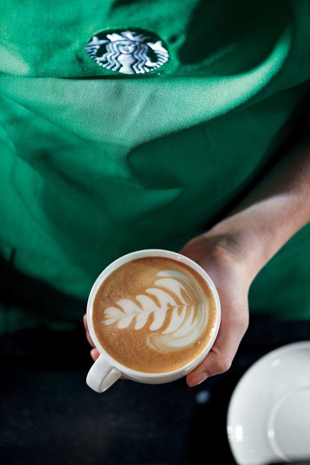 Latte art według Starbucks. Zdjęcie: materiały prasowe.