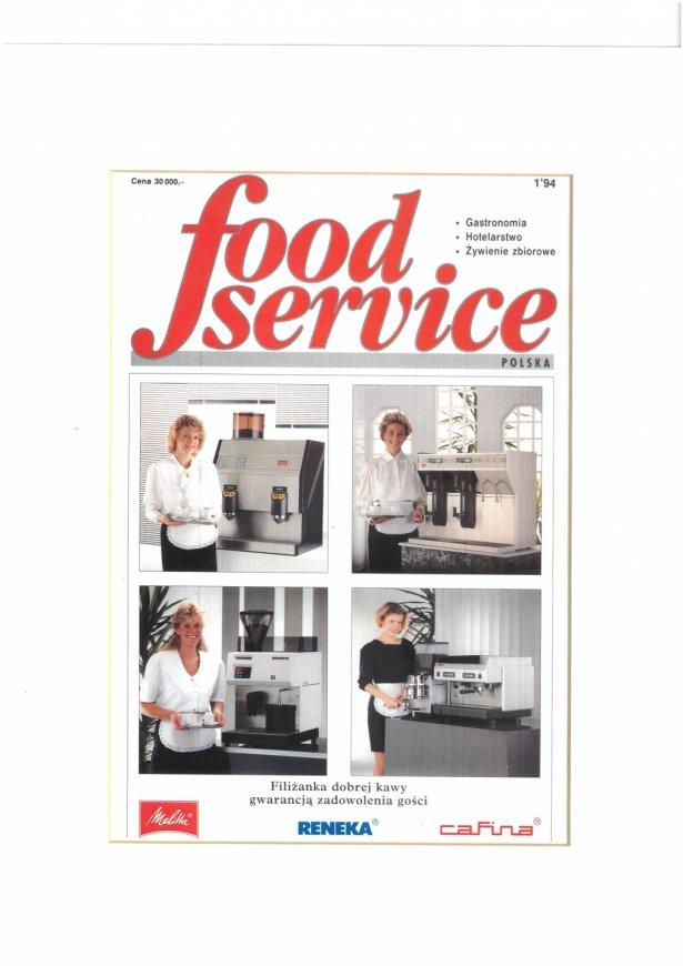 """Pierwszy numer """"Food Service""""."""
