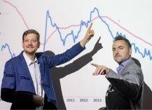 Od lewej: Ignacy Morawski, główny ekonomista Pulsu Biznesu i twórca Analiz PB oraz Grzegorz Nawacki, redaktor naczelny Pulsu Biznesu i pb.pl