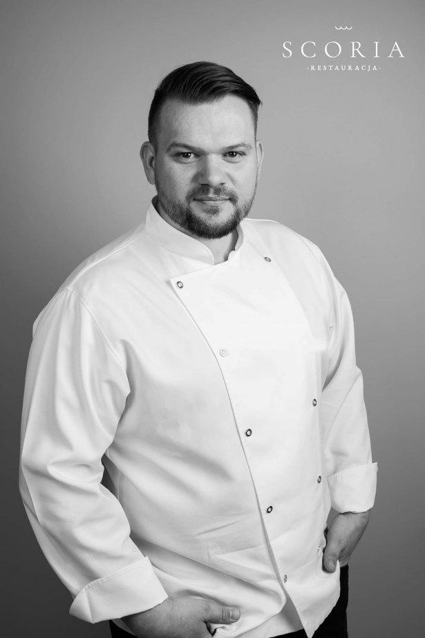Paweł Stawicki, szef kuchni restauracji Scoria w Bydgoszczy. Zdjęcie: Joanna Ogórek.