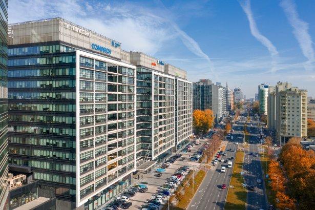 Eurocentrum Office Complex przy Alejach Jerozolimskich w Warszawie. Zdjęcie: materiały prasowe.