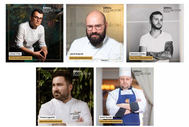 Szefowie kuchni biorący udział w Bocuse d'Or Poland 2021 / Zdjęcie: Materiały prasowe