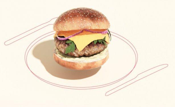 Wołowy burger wyhodowany przez Mosa Meat. Zdjęcie: Mosa Meat