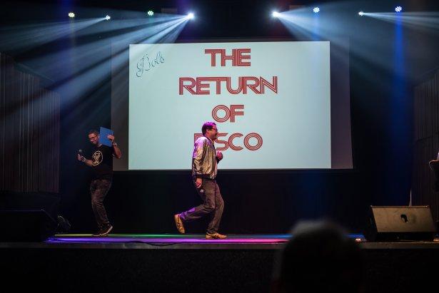 Return of a Disco – wykład Juliana de Féral. Fot. Marika Morawiec